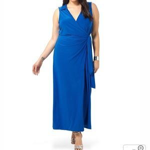 Tbags Los Angeles 1x Blue Collared wrap maxi